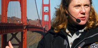 Docent leading the Golden Gate Bridge Experience Walking Tour